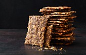 Crispbreads with seeds and grains