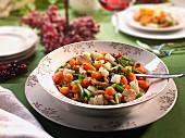Gemüseeintopf mit Champignons