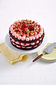 Chocolate and Strawberry Gateau