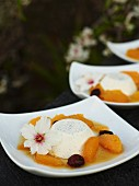 Panna cotta with orange sauce