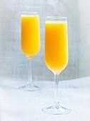 Glasses of fresh orange juice