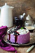 Blueberry no-bake quark cheesecake