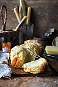 Brioche with cheese