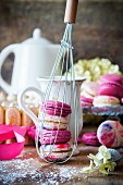 Homemade colourful macarons