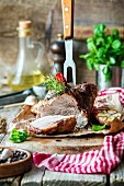 Roasted pork with rosemary and chilli pepper