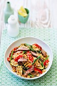 Char-grilled vegetable and lamb couscous