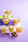 Banana and Passionfruit Jellies with Honey Yoghurt