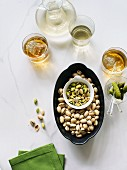 Pistachios with drinks