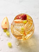 White wine sangria with peach