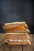 Stacked cheese sandwiches