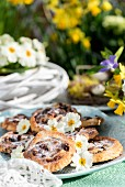 Raisin pastries with candied fruit for Easter