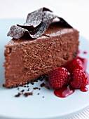A slice of chocolate torte