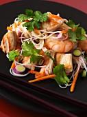 Vietnamese noodle salad with pork and prawns