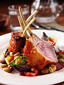 Lamb rack chops editorial food