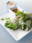 Vietnamese chicken rice noodle paper wraps