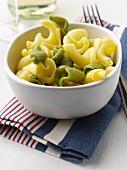 A bowl of torchietti pasta