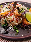 Glass noodle salad with shrimps (Asia)