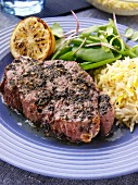 Coriander lamb steak