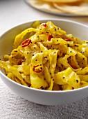 A dish of haldi cabbage editrial food