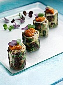Mushroom frittata canapes editorial food
