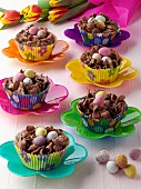 Chocolate Easter nests editorial food