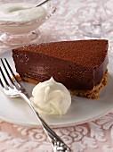 A slice of Chocolate truffle cake