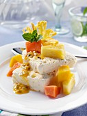 Semifreddo with tropical fruit