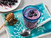 Blueberry Greek yoghurt