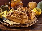 Pumpkin nut bread loaves