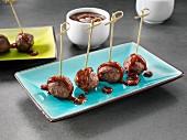 Chipotle BBQ sauce on meatballs