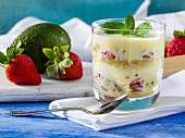 Avocado strawberry trifle