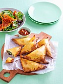 Spinach and cheese pasties