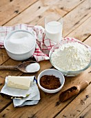 Various baking ingredients