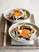 Bibimbap (Rice with Vegetables and Beef, Korea)