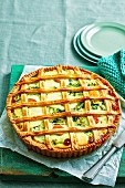 Lattice-topped Spinach and Egg Pie