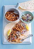 Pork and Coleslaw Burritos