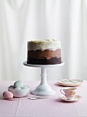 Chocolate ombre cake (Easter)