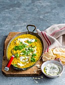 Red Lentil Dhal with Minted Yoghurt