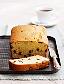 Lemon and sultana madeira cake