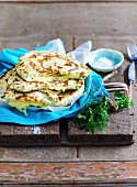 Cheese and Herb Flatbreads