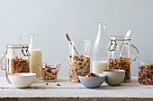Various muesli mixes