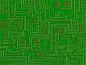 Computer chip surface, SEM