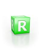 Green cube, R.