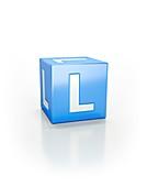 Blue cube, L.