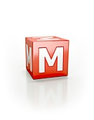 Red cube M.