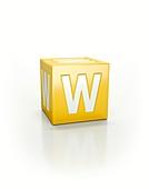 Yellow cube, W.