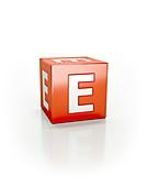 Red cube E