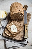 Hazelnut and wholegrain bread with butter
