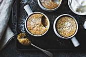 Puddings chomeurs with maple and chestnut flour