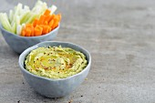 Avocado Hummus with Vegetables